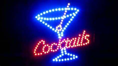 light up bar signs cocktails cocktail bar beer open man cave light up motion