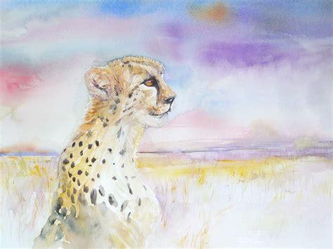 watercolor animal abstract