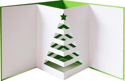 pop out christmas tree card create pinterest