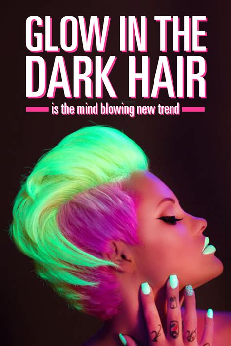 hairstyles for neon party glow in the dark hair is the mind blowing rainbow trend of