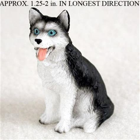 Best Seller Hamster Roborovski White Husky husky mini resin figurine statue painted black white blue eyed
