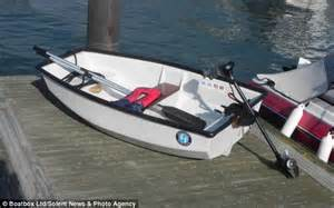 pedal boat roof rack mark tilley car s roof box transformed into a boat