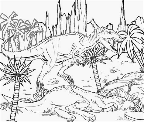 coloring page jurassic world free coloring pages of jurassic park map