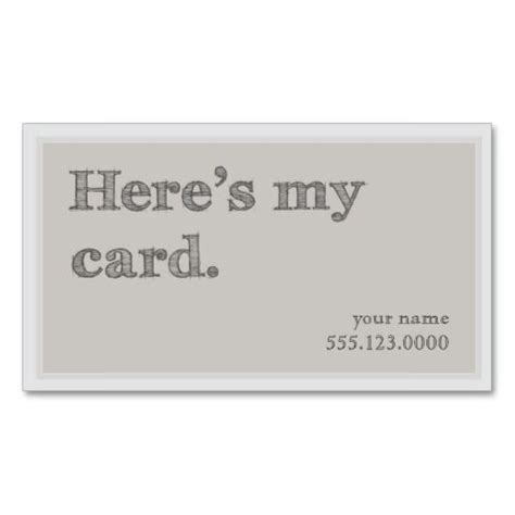 cool quot here s my card quot networking groupon business card