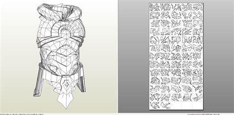 papercraft pdo file template for skyrim nordic carved