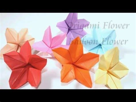Origami Balloon Flower - origami balloon flower and watches on
