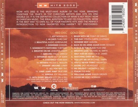 Its Okay October 2006 Cds And Bringing Back by Wow Hits 2002 Various Artists Songs Reviews Credits