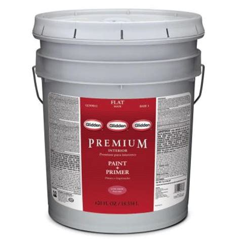 home depot 5 gallon interior paint glidden premium 5 gal white flat interior paint gln9013