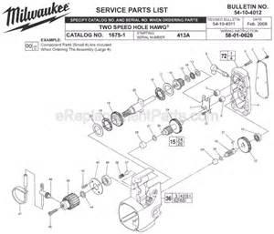 milwaukee 1675 1 parts list and diagram ser 413a ereplacementparts