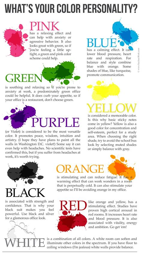 colors and personality office color personality color psychology