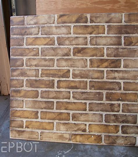chalk paint joint compound diy faux brick painting tutorial crackle patina and