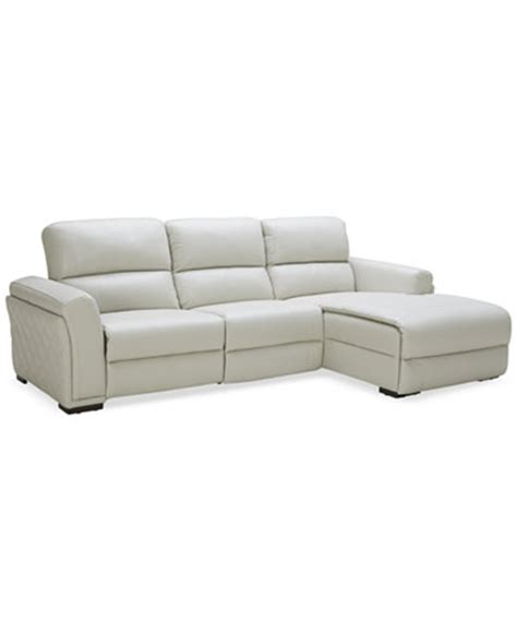 3 sided sectional couches jessi quilted side leather 3 piece sectional sofa with 1