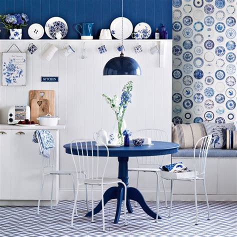 blue kitchen wallpaper uk royal blue dining room country decorating ideas