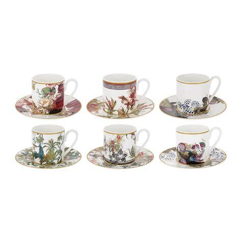 Coffee Set Exspreso Nari buy roberto cavalli flowers espresso cup saucer set of 6 amara