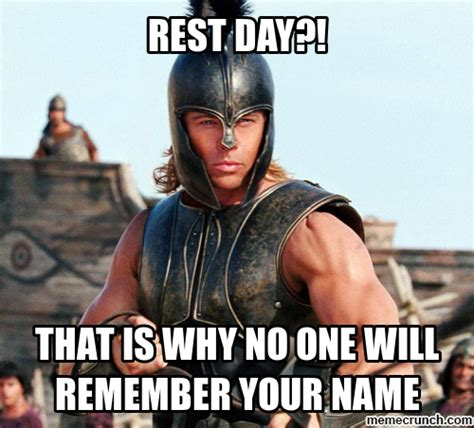 Rest Day Meme - wod 10 09 15 crossfit telic hartlepool fit for purpose