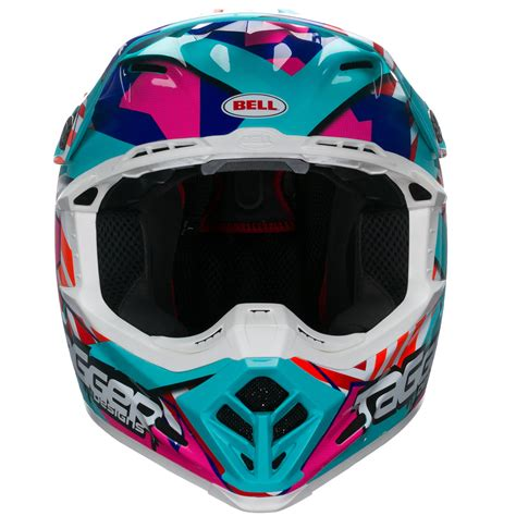 white motocross helmets bell moto 9 tagger trouble motocross helmet dot approved