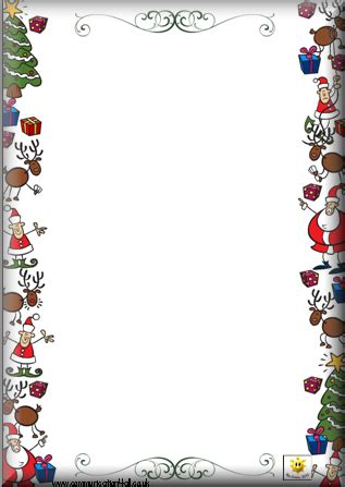 letter to santa border template christmas specials