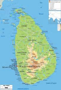 maps in physical map of sri lanka ezilon maps