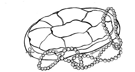 King Cake Coloring Pages | king cake coloring sheet coloring pages