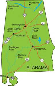 state of alabama road map free printable maps