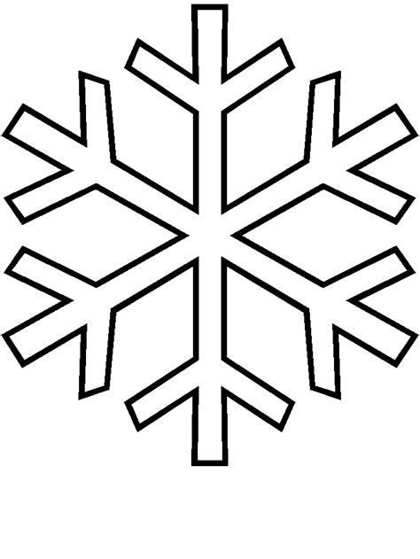 Easy Snowflake Outline by Ndelowor Printable Snowflake Template