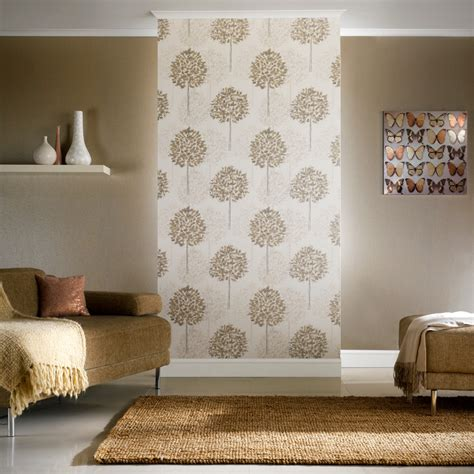 boulevard trees wallpaper in silver and beige by arthouse