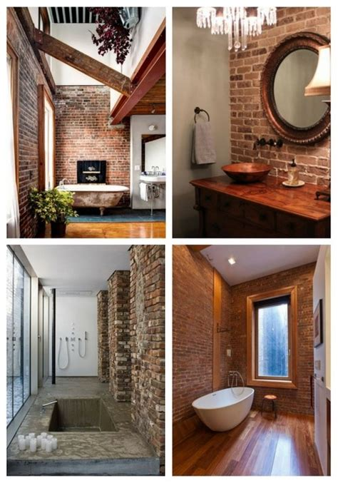 Cool Bathroom Designs With Brick Walls Comfydwelling Com