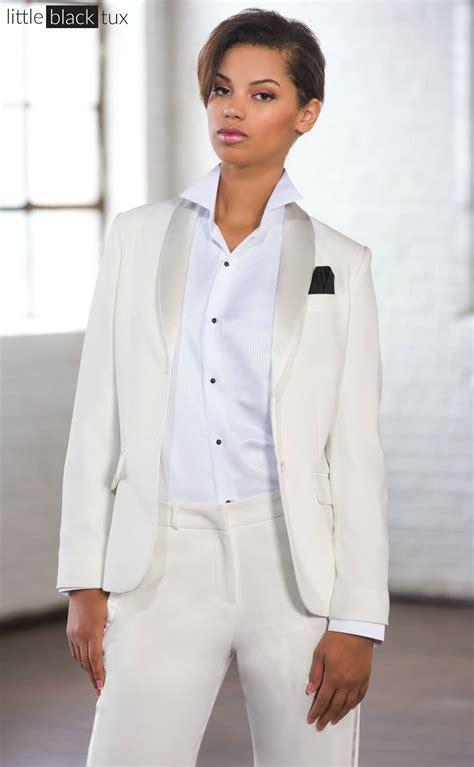 Women's Ivory Diamond White Tuxedo / Ladytux. Shawl Collar