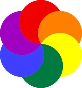 colors of rainbow of colors clip at clker vector clip
