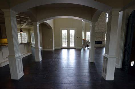 columns interior custom homes by tompkins construction