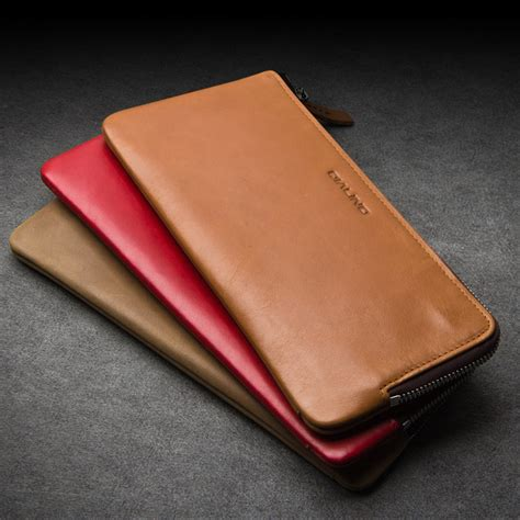 2016 New Genuine Leather Handmade - qialino 2016 new wallet cover for huawei ascend mate 8