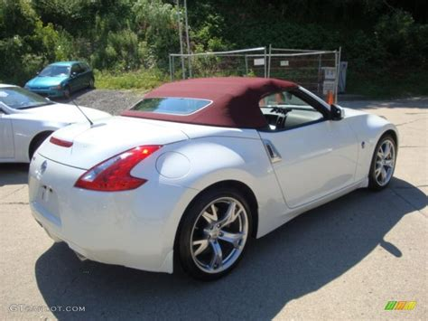 nissan convertible white 2010 pearl white nissan 370z touring roadster 32340850
