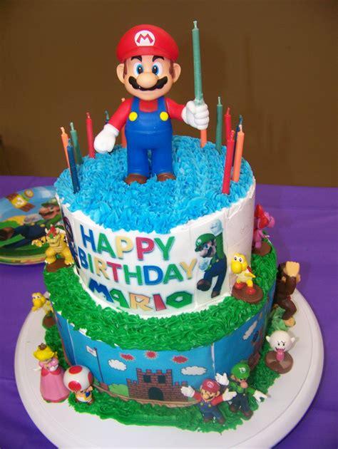 marios  birthday cake super mario theme creative fondant cakes happy birthday chocolate