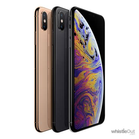 iphone xs max gb prices compare   plans   carriers whistleout