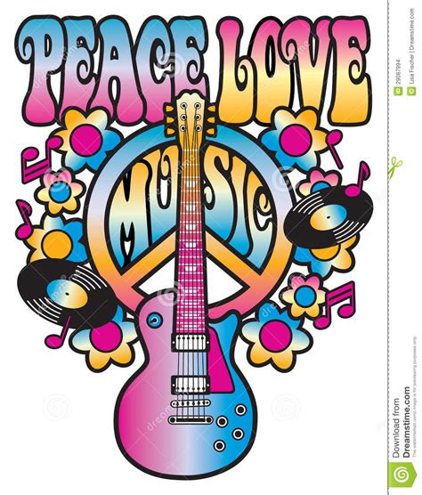 peace love and music stock images image 29087994
