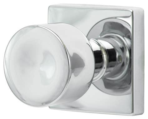 Modern Interior Door Knobs Sure Loc Door Hardware Bergen Modern Knob With Square Rosette