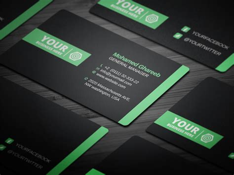 Media Business Card Psd Template by 55 Best Psd Business Card Templates Designbump