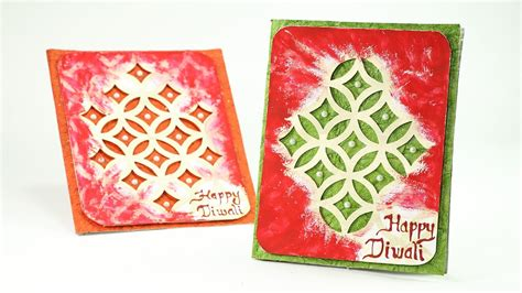 How To Make Paper L For Diwali - how to make diwali cards step by step greeting cards