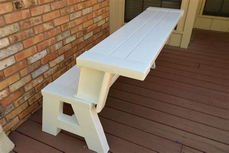 convert a bench cushions convert a bench it s a picnic table and a bench