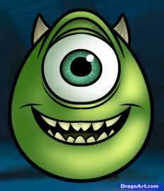 draw mike wazowski easy step step disney characters cartoons draw cartoon