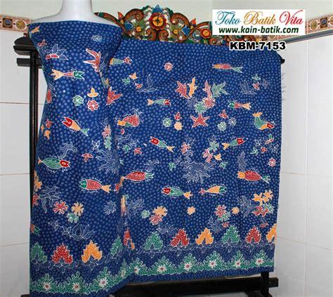 Kain Batik Tulis Asli Madura 1007 batik madura flora fauna kbm 7153 kain batik murah
