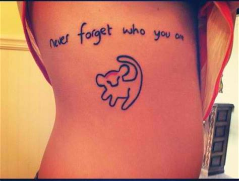 never forget tattoo disney tattoos quotes quotesgram