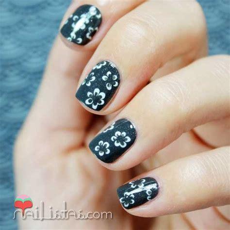 imagenes de uñas cortas u 241 as cortas decoradas con flores nailistas u 241 as