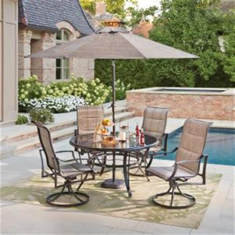 Patio Dining Sets The Bay Hton Bay Statesville Pewter 5 Aluminum Outdoor