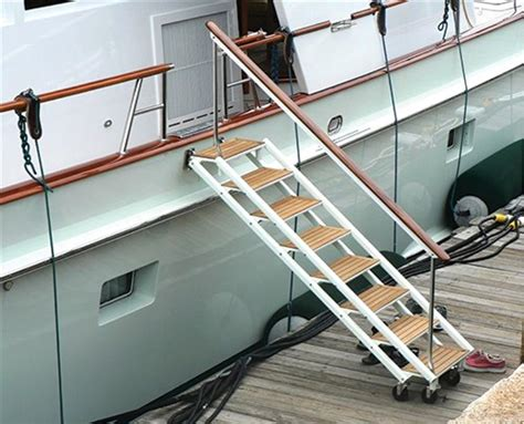 boat boarding stairs carbon stairs make boarding a sailing yacht a breeze