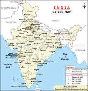 india map city wise