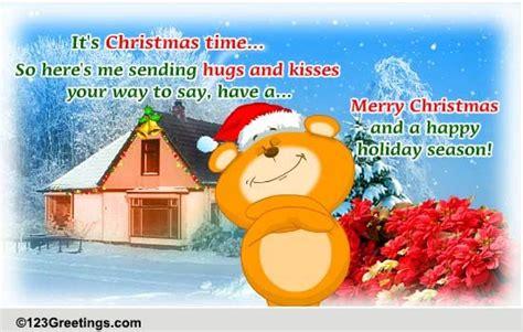 christmas hugs  kisses  hugs ecards greeting cards