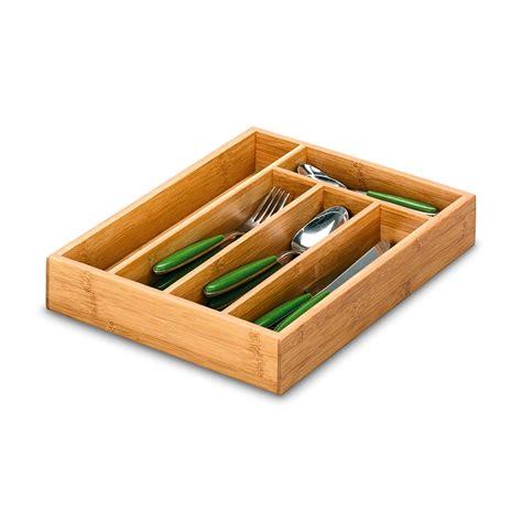 portaposate da cassetto in legno portaposate da cassetto bamboo 34 x 26 cm in legno di