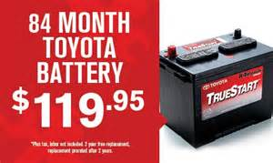 Toyota Battery Promotion Toyota Parts Specials Dallas Toyota Dealer Lewisville Tx