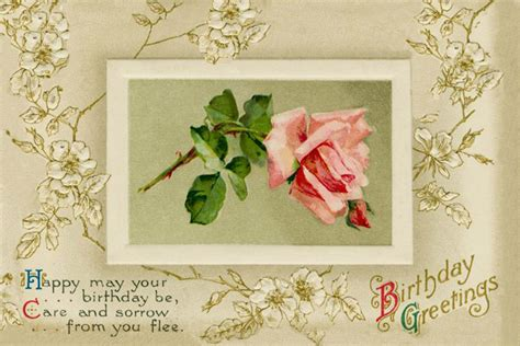 Birthday Card Vintage Template by Beautiful And Printable Birthday Greeting Card Template